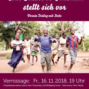 Ausstellung in Gars über unser Schulprojekt in Itete